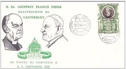VATICANO - 2 12 1960 COMMEMORATIVA UDIENZA CONCESSA DA SS. GIOVANNI XXIII A LL'ARCIVESCOVO CANTERBURY DR G FISHER - Papi