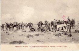 Nella Libia Italiana - Tabruk- L'Ospedaletto Someggiato Si Prepara A Ricevere I Feriti  - - Libia