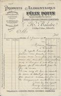 ABBEVILLE H BALATRE PRODUITS ALIMENTAIRES FELIX POTIN SIROPS A DESSERTS LIQUEURS CHOCALATS VOLAILLES GIBIERS ANNEE 1905 - Ohne Zuordnung