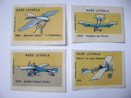 Czechoslovakia Series 24 Matchbox Label 1964 - Czechoslovak Airplanes - History Of Czech Aviation - Boites D'allumettes - Etiquettes