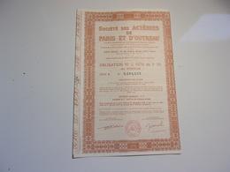 ACIERIES DE PARIS ET D'OUTREAU (obligation) 1976 - Shareholdings