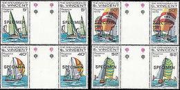 ST.VINCENT GRENADINES 1979 Ships SPECIMEN GUTTER PAIRS:4 - St.Vincent & Grenadines