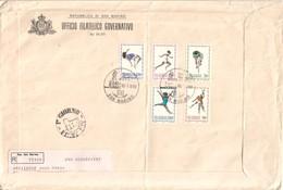 San Marino 1980  - FDC AASFN 22° Olimpiade .RACCOMANDATA First Day Cover. - FDC