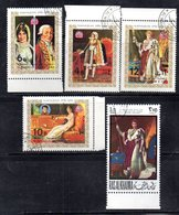 "R996 - RAS AL KHAIMA 5 Valori "" Napoleone "" Usato Nel 1970 - Napoleone"