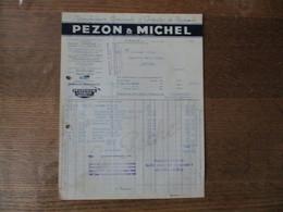 PARIS PEZON & MICHEL MANUFACTURE GENERALE D'ARTICLES DE PÊCHE 25 RUE NOTRE DAME DE NAZARET FACTURE 23.1.42 - France