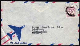 Kuwait 1956 / Queen Elizabeth / 6 Annas / Air Mail - Kuwait