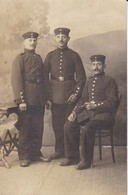AK Foto 3 Deutsche Soldaten - Feldpost Hagenau 1915 (38057) - Guerre 1914-18