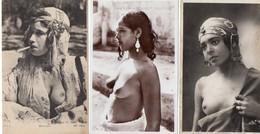 LOT 3 CPA CARTE NU Afrique Du Nord Algérie Maroc Tunisie Femme Nue Nu Nude - Africa Settentrionale (Magreb)