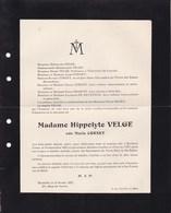 BRAINE-LE-COMTE IXELLES Maria CORNET épouse Hippolyte VELGE 1855-1927 - Obituary Notices