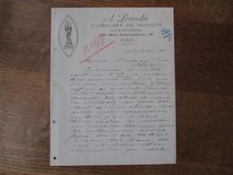 PARIS A. LEANDRI FABRICANT DE BRONZES ET BRODERIES 13 RUE GARANCIERE COURRIER DU 14 AOUT 1923 - Manuscrits