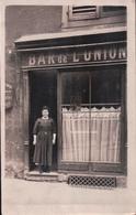 CARTE PHOTO BAR De L'UNION METZ Sablon (maman Miche) - Metz