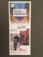 Dépliant Jacques Brel : « Avec Brel à Bruxelles » - Varia
