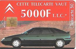 CARTE-a-PUBLIC-F 507G-50U-SO3-09/94-CITROEN XM-29/BREST-UTILISE-TBE - France