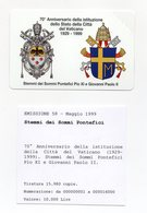 Vaticano - Urmet - 70° Anniversario Istituzione Città Del Vaticano - Nuova - Validità 1.5.2001 - (FDC13261) - Vaticano