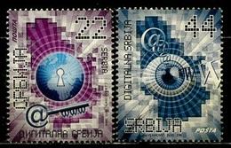 Serbie - Serbia - Serbien 2011 Y&T N°408 à 409 - Michel N°415 à 416 (o) - Série Numérique Serbe - Serbie