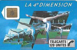 CARTE-a-PUBLIC-120U-F 37-1989-SO2-4é DIMENSIONS FEMMES-V° 4Pe 1005-UTILISEE -TBE - France