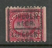 USA Hand-stamped Pre-cancel LINCOLN Nebr. Washington 2 C. - Precancels