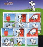 Comic Snoopy 2000 Portugal 2461/6+Block 165 ** 18€ Post-Auto Brief Hojas S/s Bloc Art Sheet Painting Bf Philatelics - Blocks & Sheetlets