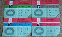 Olympic Ticket 1980 Kiev. Olympics/Olympiad  Moscow. Olympic Games. Football. - Uniformes Recordatorios & Misc