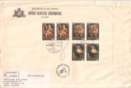 San Marino 1981  - FDC AASFN Natale Benvenuto Tisi Re Magi  .RACCOMANDATA First Day Cover. - FDC