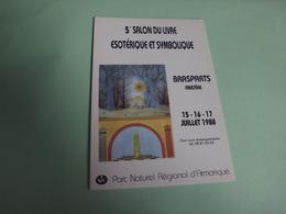 5E SALON DU LIVRE ESOTERIQUE ET SYMBOLIQUE ...BRASPARTS ..FINISTERE 1988 - Evénements