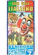 Affichette Cirque - Gran Circo Italiano - 30 Atracciones  Gran Domador Hungaro à Benidorm Espagne - Affiches