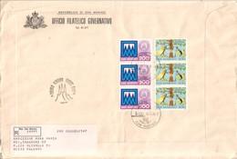 San Marino 1982  - FDC AASFN 100°cassa Di Risparmio Int Post  .RACCOMANDATA First Day Cover. - FDC