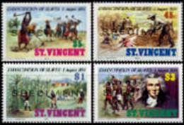 ST.VINCENT 1984 Slavery Plantage Sugar Palm Trees Agriculture SPECIMEN SET:4 Stamps - Agriculture