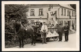 C0211 - Pferdekutsche Kutsche Pferdegespann Gespann - Brunndöbra ?? Concordia - Fotografie