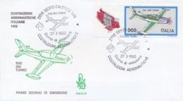 Italia 1982 FDC Venetia Costruzioni Aeronautiche Italiane Aereo SIAI 260 Turbo Annullo Di Sesto Calende - Aerei