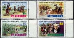 ST.VINCENT 1984 Slavery Plantage Sugar Palm Trees Agriculture SPECIMEN MARG.SET:4 Stamps - Agriculture