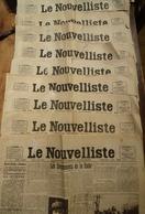Lot De 22 Quotidiens Année 1923: LE NOUVELLISTE, LE PETIT DAUPHINOIS, LE PETIT MARSEILLAIS, LE QUOTIDIEN (RÉGION SUD-EST - Other