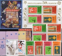 Topic 2006 Türkei 3495/8,VB,Bl.59,Albanien 3045/7+Block 157 ** 62€ Hb M/s Stamps On Stamp Blocs/sheet 50 Years CEPT - Emissions Communes