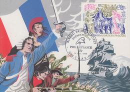 Carte  Maximum  1er  Jour   T.A.A.F   Bicentenaire  De  La  Révolution   PHILEXFRANCE   1989 - French Southern And Antarctic Territories (TAAF)