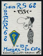 Rare // Etiquette De Vin // Militaire // Morges, San RS 68 - Militaire