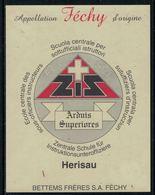 Rare // Etiquette De Vin // Militaire // Féchy, Ecole Centrale Des Sous-officiers Instructeurs - Militaire