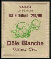 Rare // Etiquette De Vin // Militaire // Dôle Blanche Sct. Pitteloud 210/90 - Militaire