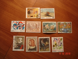 FRANCE  OBLITERES TOUTES PERIODES    10 TABLEAUX DIFFERENTS - Timbres