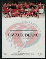 Rare // Etiquette De Vin // Hockey Sur Glace // Lavaux, Lausanne Hockey-Club - Etiquettes