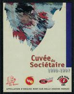 Rare // Etiquette De Vin // Hockey Sur Glace // Mont-sur-Rolle, Cuvée Du Sociétaire 1996-1997Lausanne Hockey-Club - Etiquettes