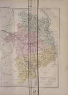 Dpt 18 CHER Joanne 1874 30x38 Bourges Saint Amand Sancerre Charenton Vierzon Chateaumeillant Dun - Cartes