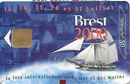 CARTES-n-PUBLIC-F1064.970-LG1-06/00-BREST 2000-NSB-TB E- - 2000