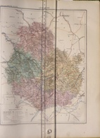 Dpt 21 COTE D'OR Joanne 1874 30x38 Dijon Beaune Chatillon Semur Pouilly Mirebeau Pontailler Selongay Saulieu Montbard - Cartes