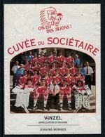 Rare // Etiquette De Vin // Hockey Sur Glace // Vinzel, Cuvée Du Sociétaire Lausanne HC - Etiquettes