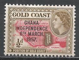 Ghana 1957. Scott #5 (M) Map Of West Africa * - Ghana (1957-...)