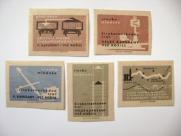 Czechoslovakia Series 5 Matchbox Label 1964 - Yuth Construction - Broad-gauge Railroad Velke Kapusany - Kosice - Boites D'allumettes - Etiquettes