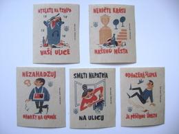 Czechoslovakia Series 5 Matchbox Label 1964 - Purity Of The Town - Boites D'allumettes - Etiquettes