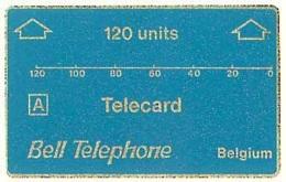 ALCATEL : AB01 120u Blue (A) Bell Telephone TRIAL CARD 1st Print MINT - Belgium