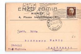11822 MONZA FOMIA X CASTEGGIO - 1900-44 Vittorio Emanuele III