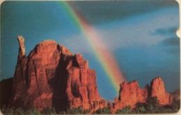 ALCATEL : BM4B Rockies 1984 Greyishpaper Card USED - Belgique